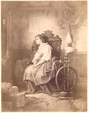 Senta am Spinnrad, 1876, Theodor Pixis
