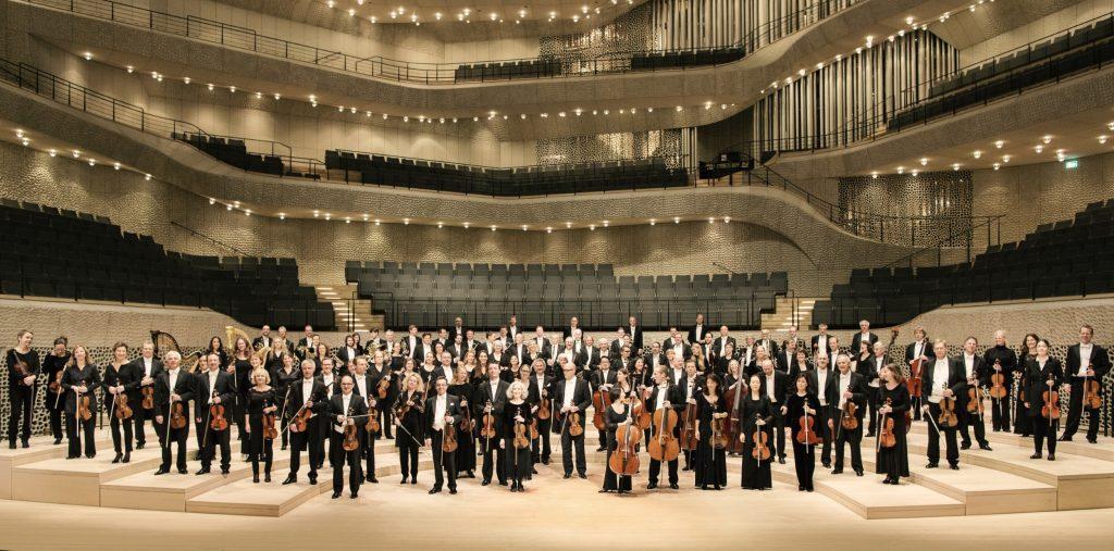 Das Philharmonische Staatsorchester Hamburg in der Elbphilharmonie. Foto: Felix Broede